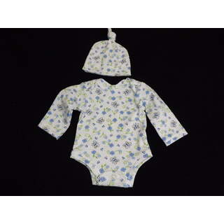 """15"""" - 16"""" Long Sleeved Onesie with Hat Butterfly"""
