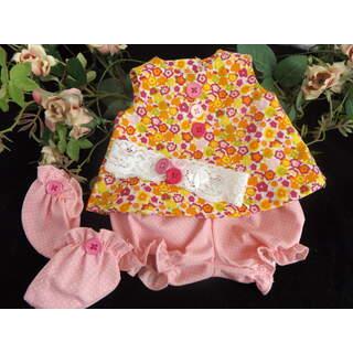 """15"""" - 17"""" Summer Dress Set Pink Orange  Floral"""
